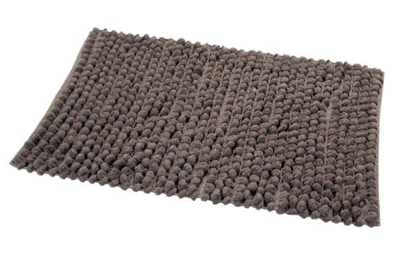 Saffron Fabs Bath Rug Cotton and Microfiber, 34x21 Inch, Round Loop Bubbles, Anti-Skid, Gray