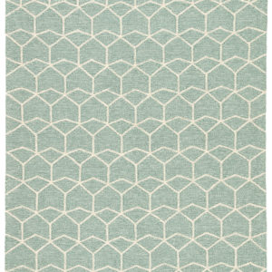 Jaipur Living Estrellas Indoor/ Outdoor Geometric Green/ Cream Area Rug (2'X3')