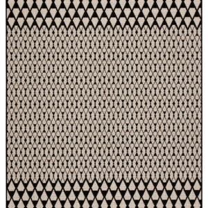 "Jaipur Living Traveller Indoor/ Outdoor Geometric Black/ Ivory Area Rug (2'X3'7"")"