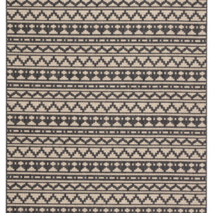 "Jaipur Living Killick Indoor/ Outdoor Tribal Gray/ Beige Area Rug (2'X3'7"")"