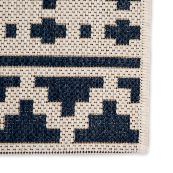 "Jaipur Living Killick Indoor/ Outdoor Tribal Blue/ Ivory Area Rug (2'X3'7"")"