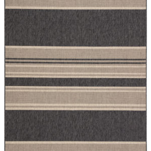 "Jaipur Living Pilot Indoor/ Outdoor Stripes Gray/ Beige Area Rug (2'X3'7"")"