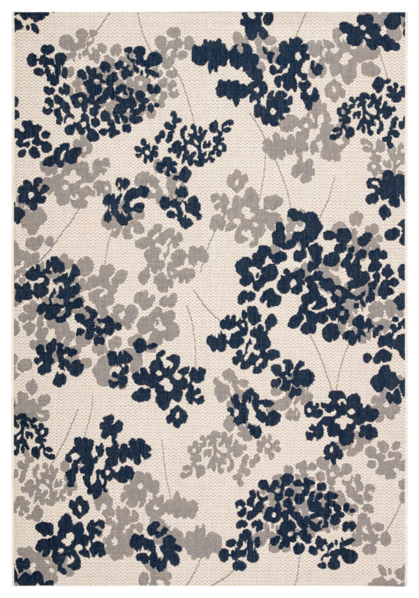 "Jaipur Living Mariner Indoor/ Outdoor Floral Blue/ Gray Area Rug (2'X3'7"")"