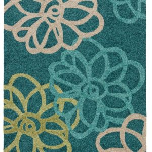 Jaipur Living Blossomed Indoor/ Outdoor Floral Teal/ Green Area Rug (2'X3')