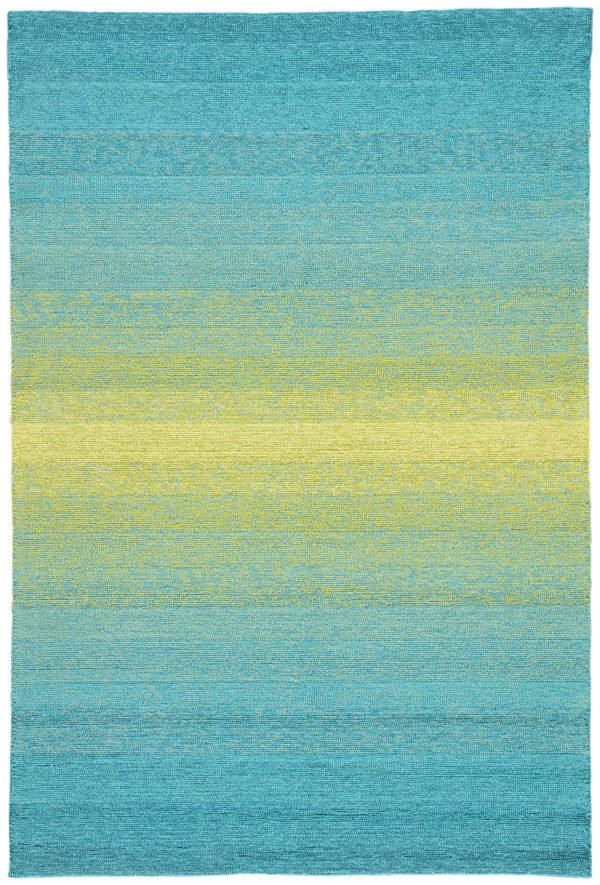 Jaipur Living Blaze Indoor/ Outdoor Ombre Blue/ Lime Green Area Rug (2'X3')