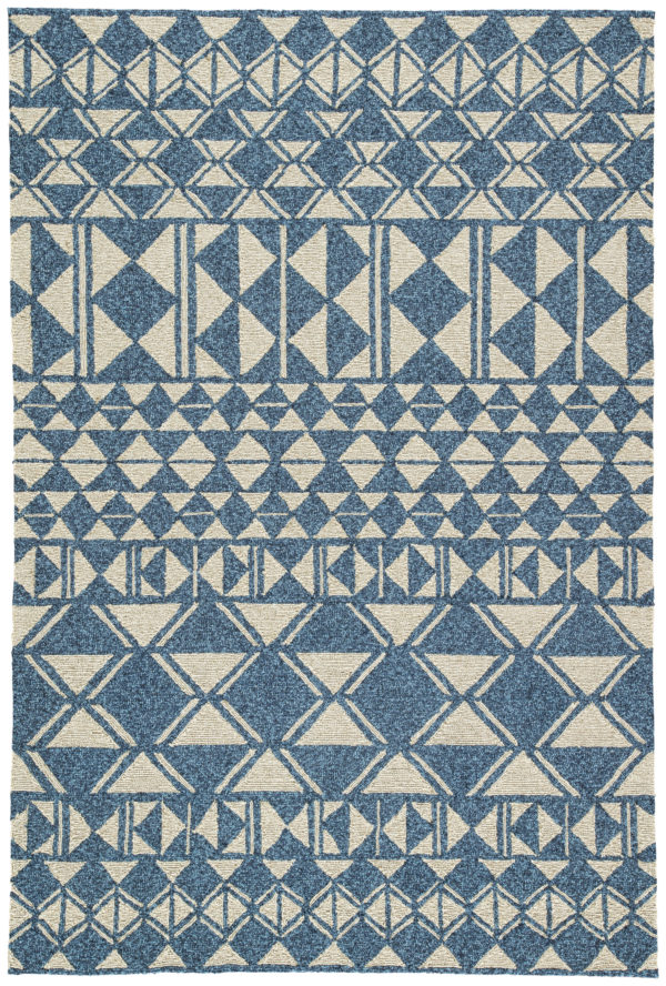 Jaipur Living Botella Indoor/ Outdoor Geometric Blue/ Cream Area Rug (2'X3')