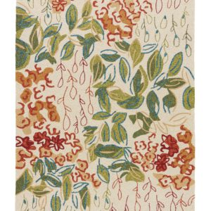 Lauren Wan by Jaipur Living Veranda Indoor/ Outdoor Floral Multicolor/ White Area Rug (2'X3')
