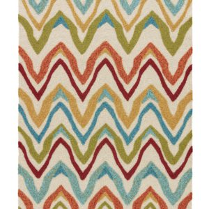Jaipur Living Bahia Indoor/ Outdoor Chevron White/ Multicolor Area Rug (2'X3')