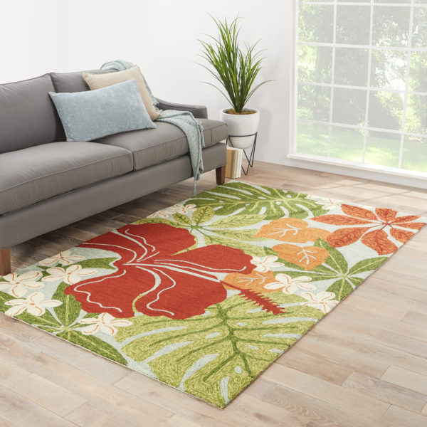 Jaipur Living Luau Indoor/ Outdoor Floral Multicolor/ Blue Area Rug (2'X3')
