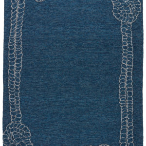 Jaipur Living Killians Indoor/ Outdoor Bordered Blue/ Gray Area Rug (2'X3')