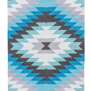 Jaipur Living Mojave Indoor/ Outdoor Geometric Aqua/ Gray Area Rug (2'X3')