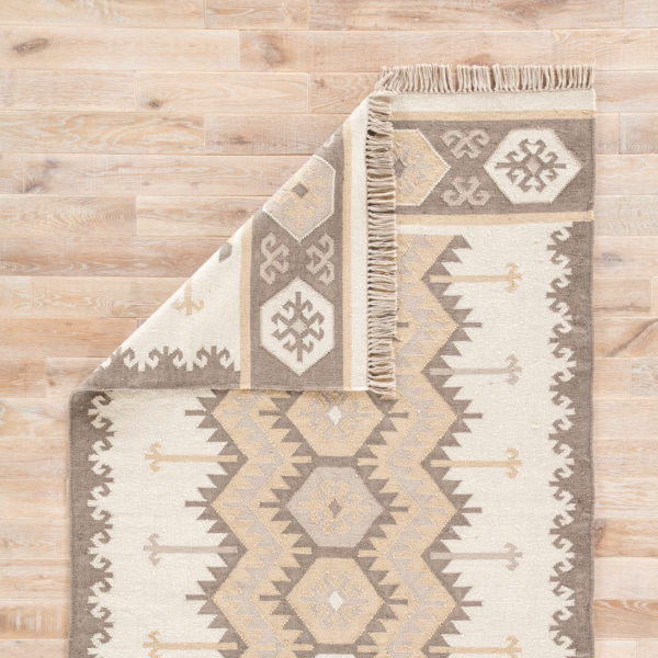 Jaipur Living Emmett Indoor/ Outdoor Geometric Gray/ Taupe Area Rug (2'X3')