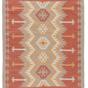 Jaipur Living Emmett Indoor/ Outdoor Geometric Orange/ Beige Area Rug (2'X3')
