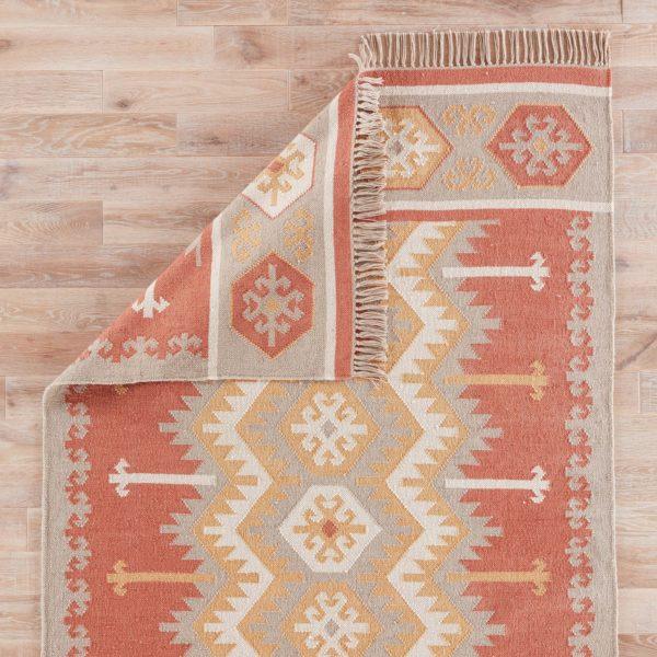 Jaipur Living Emmett Indoor/ Outdoor Geometric Orange/ Beige Area Rug (2'X3')