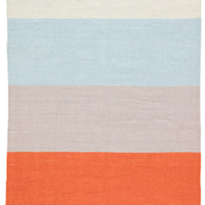Jaipur Living Swane Indoor/ Outdoor Stripe Orange/ Blue Area Rug (2'X3')