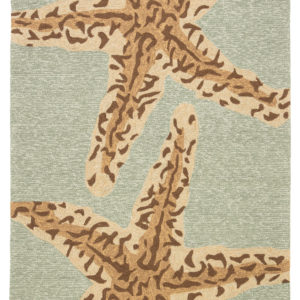 Jaipur Living Sea Star Indoor/ Outdoor Animal Blue/ Brown Area Rug (2'X3')