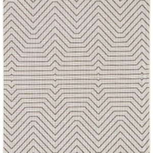 Jaipur Living Prima Indoor/ Outdoor Geometric Light Gray/ Black Area Rug (2'X3')