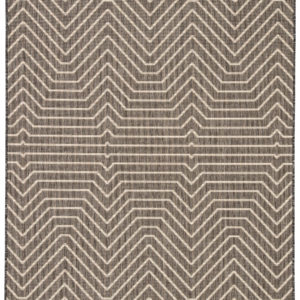 Jaipur Living Prima Indoor/ Outdoor Geometric Dark Gray/ Cream Area Rug (2'X3')