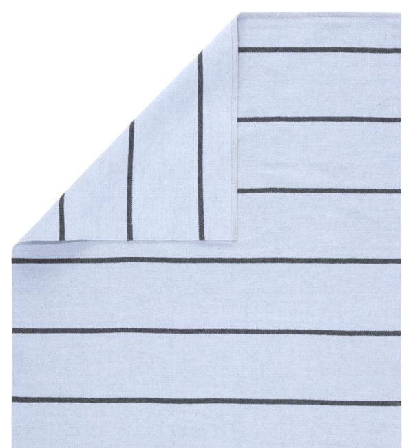 Jaipur Living Corbina Indoor/ Outdoor Stripes Light Blue/ Gray Area Rug (2'X3')