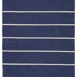 Jaipur Living Corbina Indoor/ Outdoor Stripes Dark Blue/ Ivory Area Rug (2'X3')