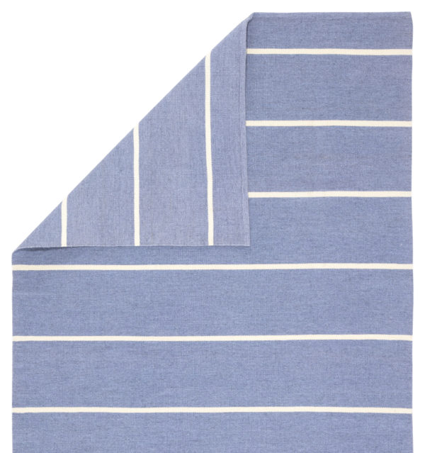 Jaipur Living Corbina Indoor/ Outdoor Stripes Blue/ Ivory Area Rug (2'X3')