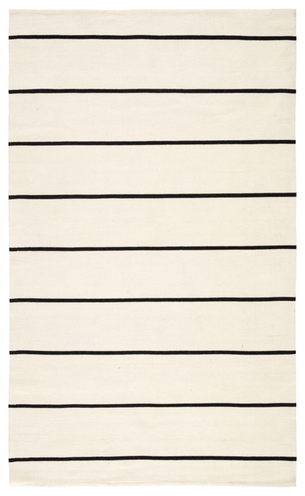 Jaipur Living Corbina Indoor/ Outdoor Stripes Ivory/ Black Area Rug (2'X3')