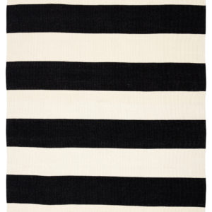 Jaipur Living Remora Indoor/ Outdoor Stripes Black/ Ivory Area Rug (2'X3')