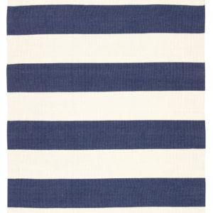 Jaipur Living Remora Indoor/ Outdoor Stripes Dark Blue/ Ivory Area Rug (2'X3')