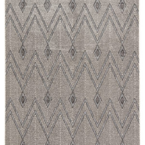 Jaipur Living Luz Indoor/ Outdoor Chevron Gray Area Rug (2'X3')