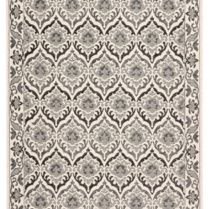 "Jaipur Living Laurel Indoor/ Outdoor Damask Dark Gray/ Cream Area Rug (2'X3'7"")"