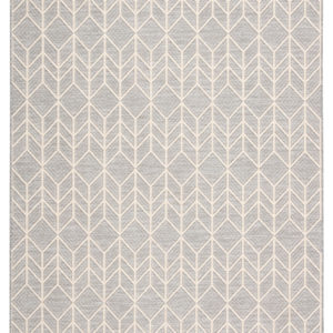 "Jaipur Living Galloway Indoor/ Outdoor Chevron Gray/ Cream Area Rug (2'X3'7"")"