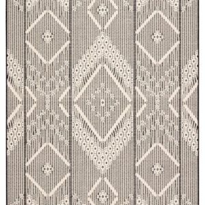 "Jaipur Living Shiloh Indoor/ Outdoor Tribal Dark Gray/ Cream Area Rug (2'X3'7"")"