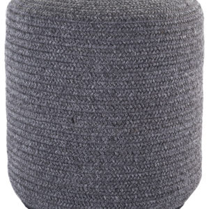 Jaipur Living Bridgehampton Solid Dark Gray Indoor/ Outdoor Pouf