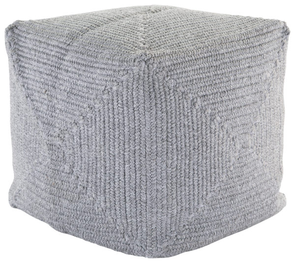 Jaipur Living Bridgehampton Solid Light Gray Indoor/ Outdoor Pouf
