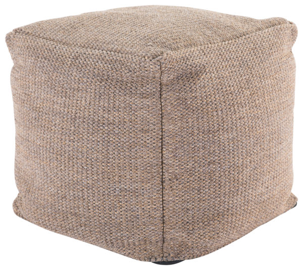 Jaipur Living Mastic Solid Tan Indoor/ Outdoor Pouf