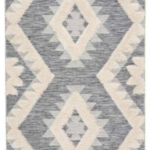 "Jaipur Living Makaya Indoor/ Outdoor Geometric Gray/ Cream Area Rug (2'X3'7"")"