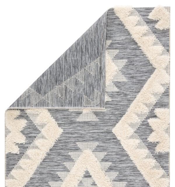 "Jaipur Living Makaya Indoor/ Outdoor Geometric Gray/ Cream Area Rug (2'X3'7"")"