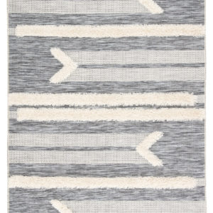 "Jaipur Living Hanai Indoor/ Outdoor Tribal Gray/ Cream Area Rug (2'X3'7"")"