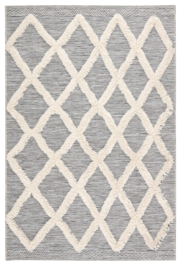"Jaipur Living Bandalier Indoor/ Outdoor Trellis Gray/ Cream Area Rug (2'X3'7"")"