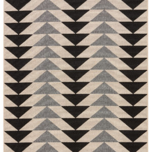 "Jaipur Living Mckenzie Indoor/ Outdoor Geometric Black/ Cream Area Rug (2'X3'7"")"