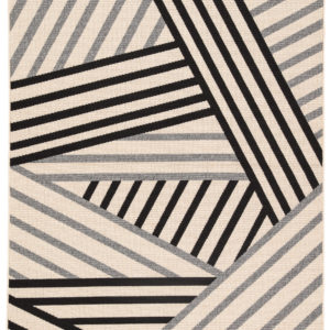 "Jaipur Living Begley Indoor/ Outdoor Geometric Black/ Gray Area Rug (2'X3'7"")"