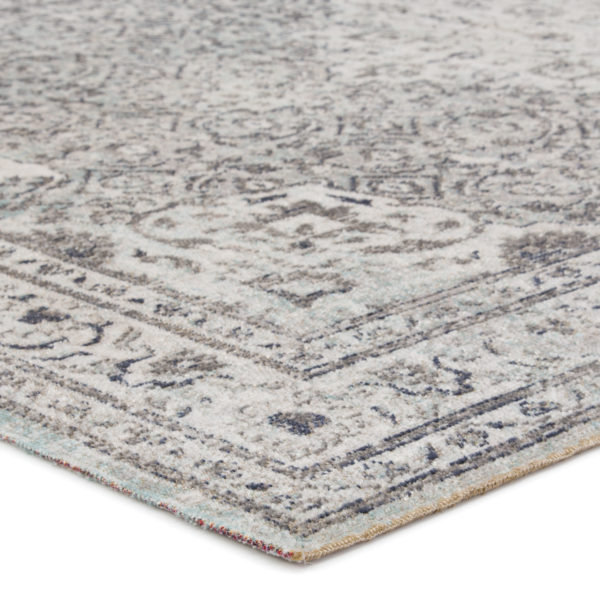 Jaipur Living Langley Indoor/ Outdoor Medallion Gray/ Blue Area Rug (2'X3')