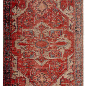 Jaipur Living Leighton Indoor/ Outdoor Medallion Red/ Blue Area Rug (2'X3')