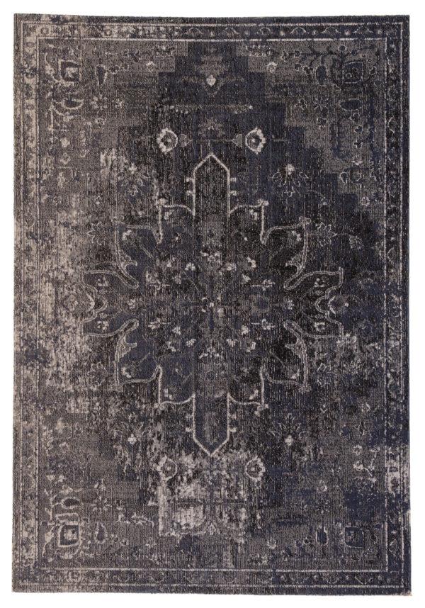 Jaipur Living Isolde Indoor/ Outdoor Medallion Blue/ Black Area Rug (2'X3')