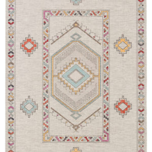 Jaipur Living Tov Indoor/ Outdoor Medallion Light Gray/ Multicolor Area Rug (2'X3')