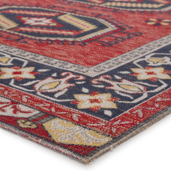 Jaipur Living Miner Indoor/ Outdoor Medallion Red/ Yellow Area Rug (2'X3')