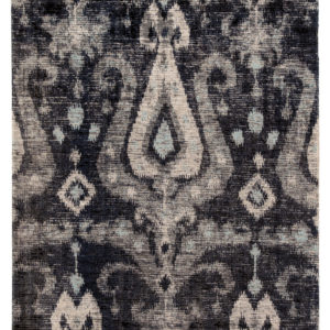 Jaipur Living Zenith Indoor/ Outdoor Ikat Black/ Blue Area Rug (2'X3')