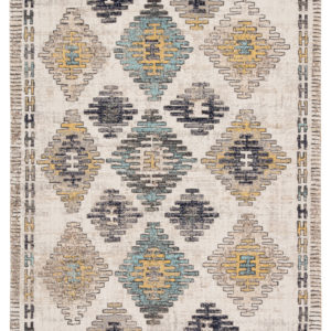Jaipur Living Dez Indoor/ Outdoor Tribal Blue/ Yellow Area Rug (2'X3')