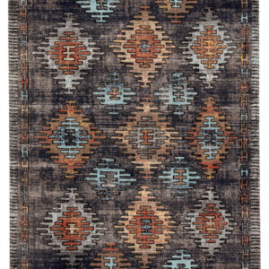 Jaipur Living Dez Indoor/ Outdoor Tribal Blue/ Orange Area Rug (2'X3')