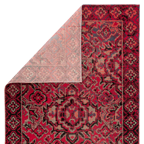 Jaipur Living Chaya Indoor/ Outdoor Medallion Red/ Black Area Rug (2'X3')